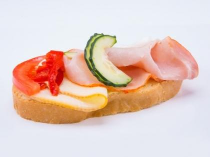 Obložený šunkovo syrový chlebík